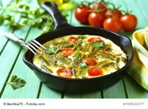 BBean and asparagus frittata