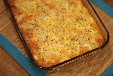 potato lasagna for breakfast