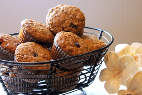 Bran muffins - perfect for lunch boxes