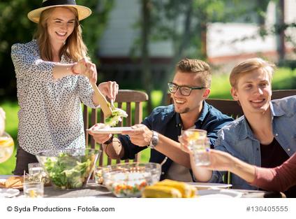 Food communicating friendship and celebration
