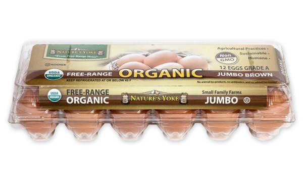 Organic Jumbo Brown Eggs, 1 Dozen Plastic Carton