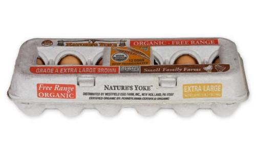Organic Extra Large Brown Eggs, 1 Dozen Pulp Carton