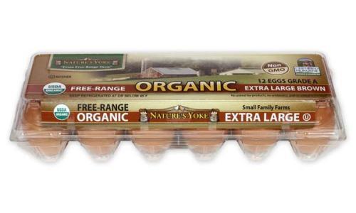 Organic Extra Large Brown Eggs, 1 Dozen Plastic Carton