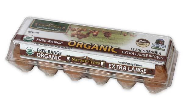 Organic Extra Large Brown Eggs, 1 Dozen Plastic Carton Angle 2