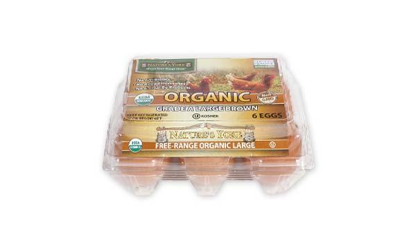 Organic Large Brown Eggs, Half Dozen Plastic Carton