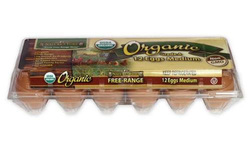 Organic Medium Brown Eggs, 1 Dozen Plastic Carton