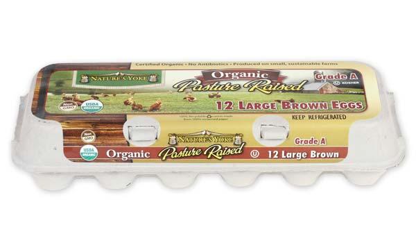 Organic Pasture Raised Large Brown Eggs, 1 Dozen Pulp Carton