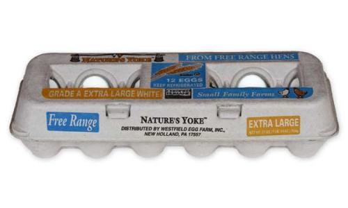 Free-Range Extra Large White Eggs, 1 Dozen Pulp Carton