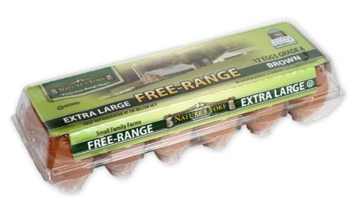 Free-Range Extra Large Brown Eggs, 1 Dozen Plastic Carton