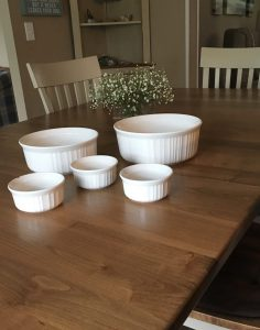 My soufflé dishes