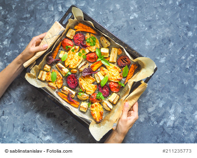 Baked vegetable platter
