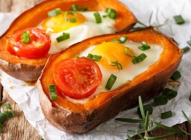 Sweet Potato and Egg Boat