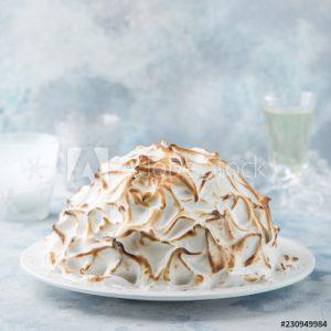 Baked Alaska on a platter