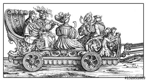 Procession of triumph from XVI century