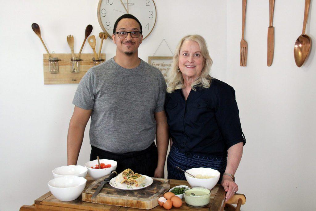 Ryan Rodriguez with Helen Leibee