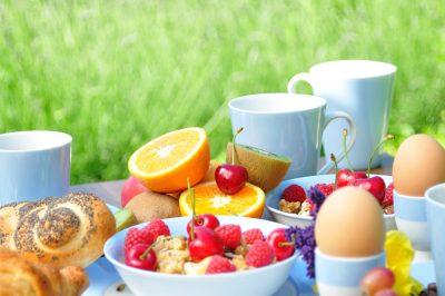 fresh breakfast outside